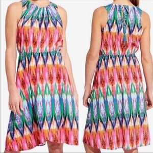 Athleta Multi-color Sleeveless Tulip  Dress XS